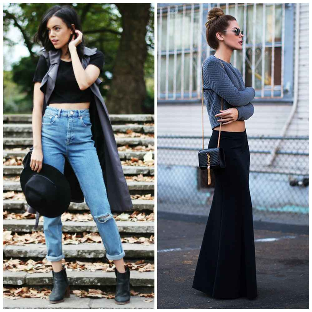 Crop Top Sleeveless Jacket Longline Mom Jeans Ankle