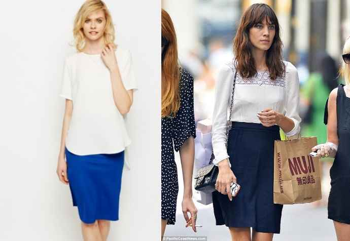 alexa chung white top - Everything 5 Pounds